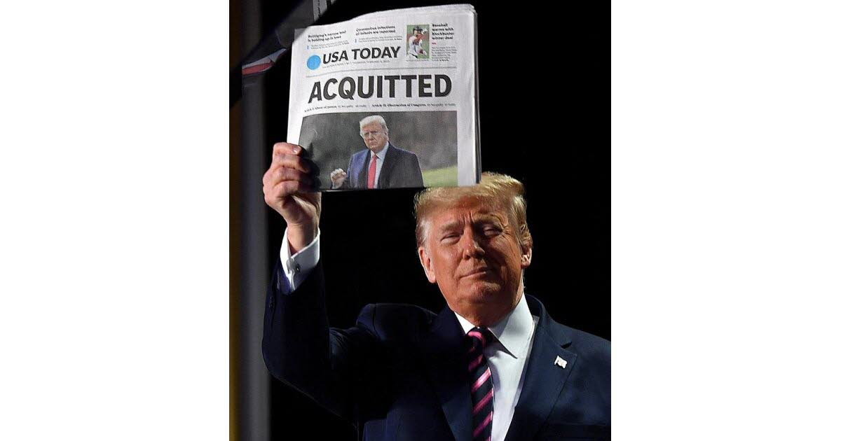 """United States.  Donald Trump acquitted, promises to """"continue the adventure"""""""