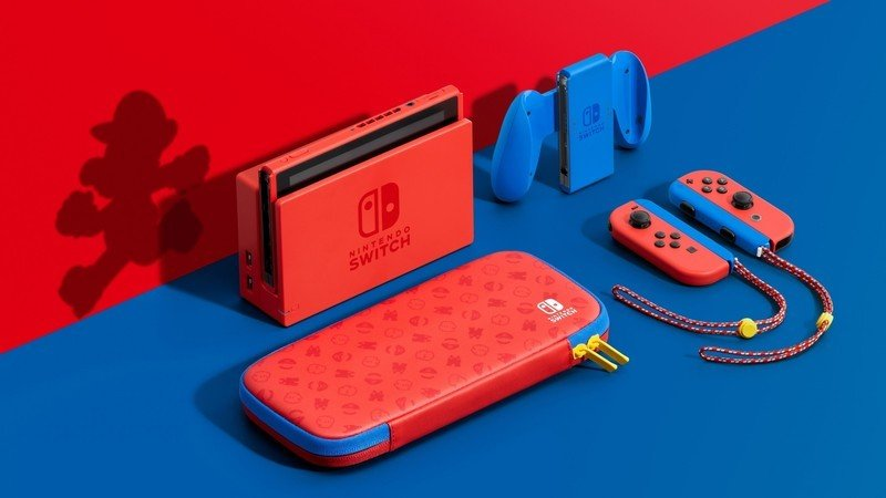 The limited-edition Mario Red & Blue Nintendo Switch is back in stock